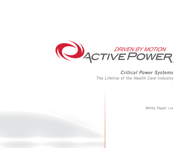 Active Power White Paper edge mission critical