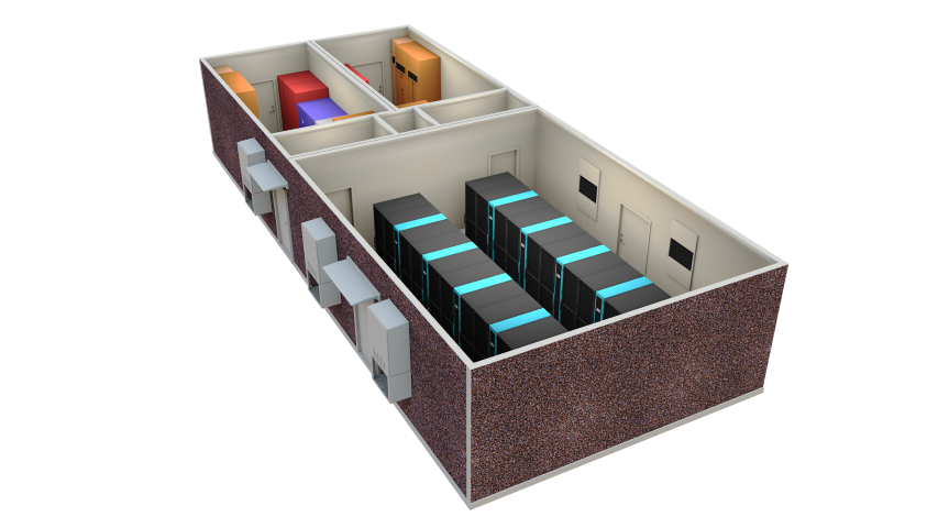 Modular Data Center - edge computing rack chiller