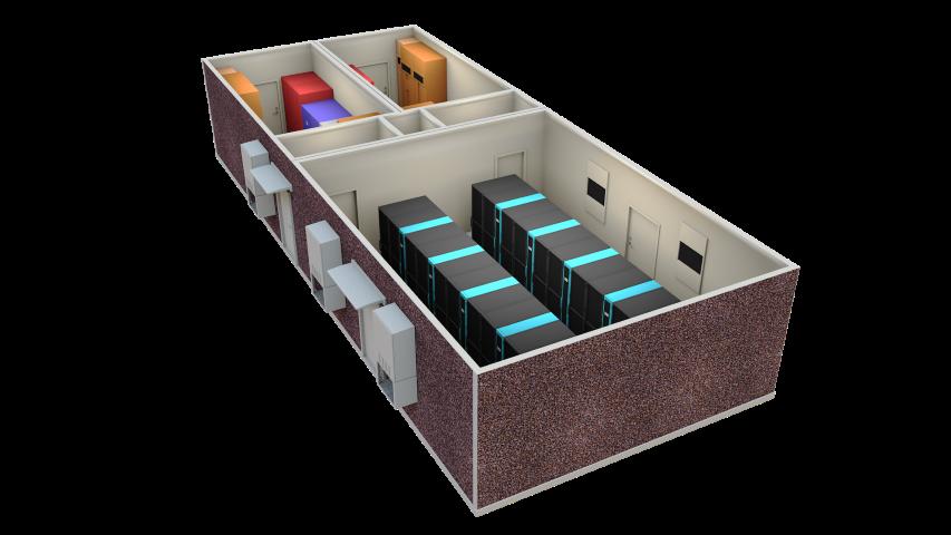 Modular Data Center - edge computing rack chiller